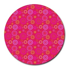 Psychedelic Kaleidoscope 8  Mouse Pad (round) by StuffOrSomething