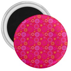 Psychedelic Kaleidoscope 3  Button Magnet by StuffOrSomething