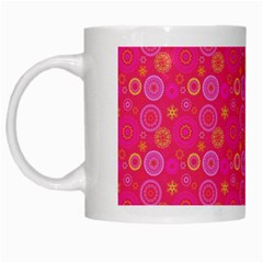 Psychedelic Kaleidoscope White Coffee Mug by StuffOrSomething