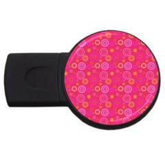 Psychedelic Kaleidoscope 2gb Usb Flash Drive (round) by StuffOrSomething