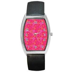 Psychedelic Kaleidoscope Tonneau Leather Watch by StuffOrSomething