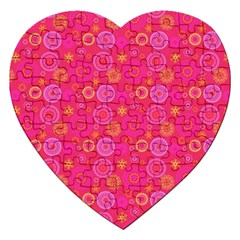 Psychedelic Kaleidoscope Jigsaw Puzzle (heart) by StuffOrSomething