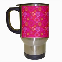 Psychedelic Kaleidoscope Travel Mug (white) by StuffOrSomething