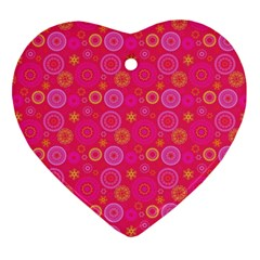 Psychedelic Kaleidoscope Heart Ornament (two Sides) by StuffOrSomething