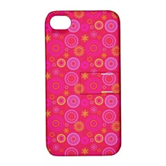 Psychedelic Kaleidoscope Apple Iphone 4/4s Hardshell Case With Stand by StuffOrSomething