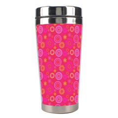 Psychedelic Kaleidoscope Stainless Steel Travel Tumbler by StuffOrSomething
