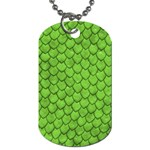 Funky Green Snake Skin/Lizard Scales Design Dog Tag (Two Sides)