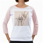 I Love You Women s Long Cap Sleeve T-Shirt (White)