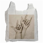 I Love You White Reusable Bag (Two Sides)