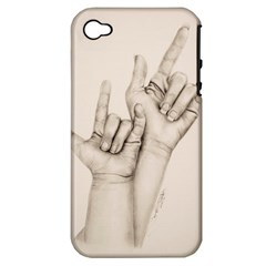 I Love You Apple Iphone 4/4s Hardshell Case (pc+silicone) by TonyaButcher