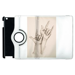 I Love You Apple Ipad 2 Flip 360 Case by TonyaButcher