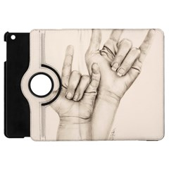 I Love You Apple Ipad Mini Flip 360 Case by TonyaButcher