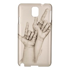I Love You Samsung Galaxy Note 3 N9005 Hardshell Case by TonyaButcher