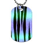 Icy Blue Tiger Stripes Design Dog Tag (Two Sides)