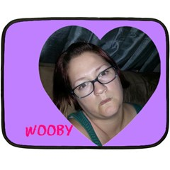 Wooby By Megan M O leary Blundell   Double Sided Fleece Blanket (mini)   M3gpvfyyi8dk   Www Artscow Com 35 x27 Blanket Front