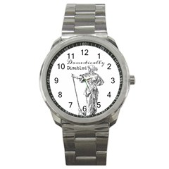 Domestically Disabled Sport Metal Watch by StuffOrSomething