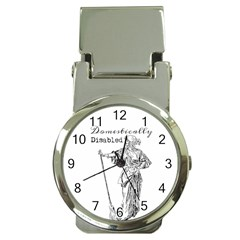 Domestically Disabled Money Clip With Watch by StuffOrSomething