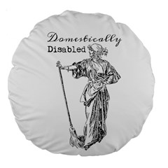 Domestically Disabled 18  Premium Round Cushion  by StuffOrSomething