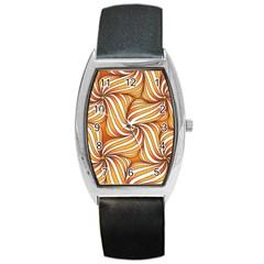 Sunny Organic Pinwheel Tonneau Leather Watch by Zandiepants