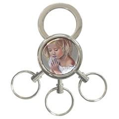 Prayinggirl 3 Ring Key Chain