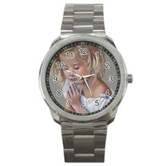 Prayinggirl Sport Metal Watch by TonyaButcher