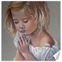 Prayinggirl Canvas 16  X 16  (unframed)