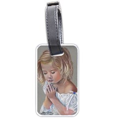 Prayinggirl Luggage Tag (one Side) by TonyaButcher