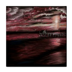 Pier At Midnight Ceramic Tile by TonyaButcher