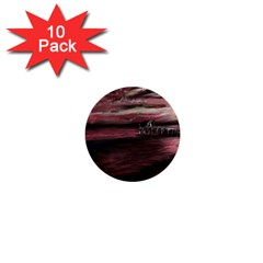 Pier At Midnight 1  Mini Button (10 Pack) by TonyaButcher