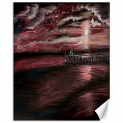 Pier At Midnight Canvas 11  x 14  (Unframed) by TonyaButcher