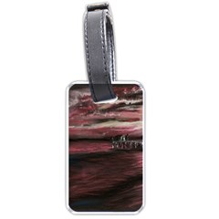 Pier At Midnight Luggage Tag (two Sides) by TonyaButcher