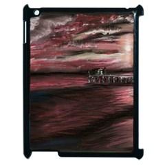 Pier At Midnight Apple Ipad 2 Case (black) by TonyaButcher