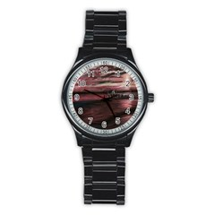 Pier At Midnight Sport Metal Watch (black) by TonyaButcher