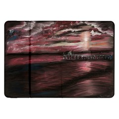 Pier At Midnight Samsung Galaxy Tab 8 9  P7300 Flip Case