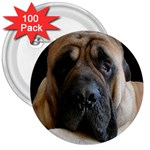 English Mastiff 3  Button (100 pack)