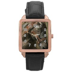 Storm Rose Gold Leather Watch