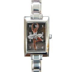 Ballet Ballet Rectangular Italian Charm Watch by TonyaButcher