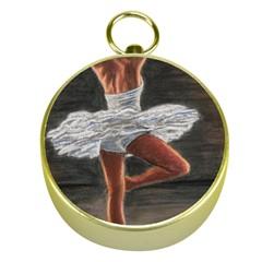 Ballet Ballet Gold Compass by TonyaButcher