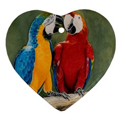 Feathered Friends Heart Ornament