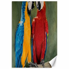 Feathered Friends Canvas 12  X 18  (unframed) by TonyaButcher
