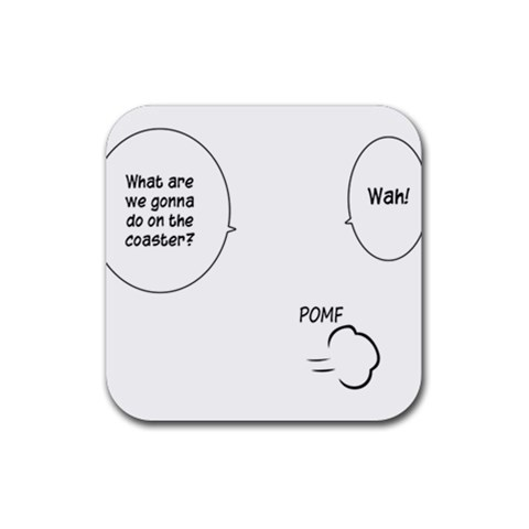 Pomf By Alessandro Grassi   Rubber Coaster (square)   O2fgvleff74s   Www Artscow Com Front