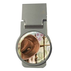 Hat On The Fence Money Clip (round) by TonyaButcher