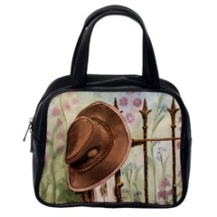 Hat On The Fence Classic Handbag (one Side) by TonyaButcher