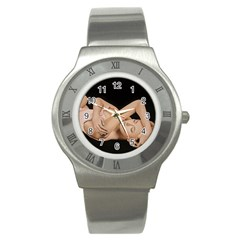 Gentle Embrace Stainless Steel Watch (slim) by TonyaButcher