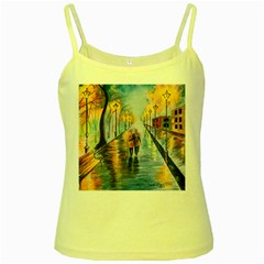 Just The Two Of Us Yellow Spaghetti Tank by TonyaButcher