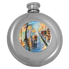 Just The Two Of Us Hip Flask (round) by TonyaButcher
