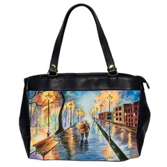 Just The Two Of Us Oversize Office Handbag (two Sides) by TonyaButcher