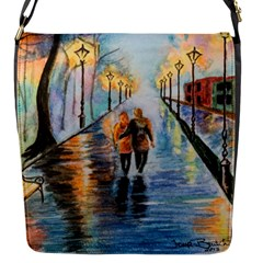 Just The Two Of Us Flap Closure Messenger Bag (small) by TonyaButcher