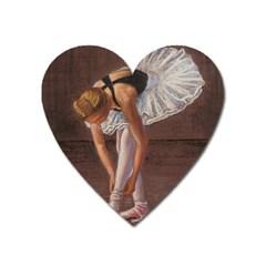 Ballerina Magnet (heart) by TonyaButcher