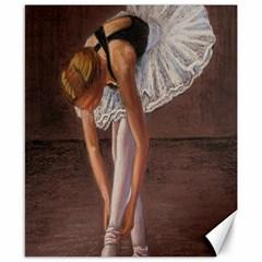 Ballerina Canvas 8  X 10  (unframed)